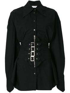 Faith Connexion Sita shirt - black button up buckle detail Stage Outfits, Kpop Outfits, Edgy Outfits, Korean Outfits, Grunge Outfits, Fashion Mode, Kpop Fashion, Korean Fashion, Street Fashion