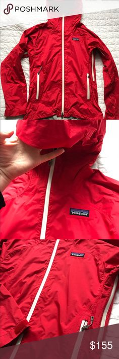 Patagonia rain jacket Excellent condition Patagonia rain jacket. No flaws! Only worn couple times. Xs but small will fit as well. Patagonia Jackets & Coats