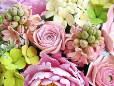 Композиции : Букет с розовыми цветами - Fito Art