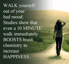 This WORKS, I'm not even kidding. If you're struggling with negative emotions. Power walking is even better! Power Walking, Walking Club, Health And Wellness, Health Tips, Health Fitness, Mental Health, Health Walk, Paleo Fitness, Fitness Facts