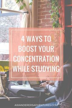 Want to make studying easier and finally get the grades you want? Try these 4 ways to boost your concentration while studying! Click through to find out what they are.