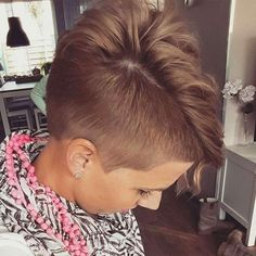2017 Short Hairstyles - 12 - New Ideas Latest Short Hairstyles, Girls Short Haircuts, Pixie Hairstyles, Pixie Haircut Gallery, Short Hair Cuts, Short Hair Styles, Hair Doo, Shaved Hair Designs, Hair Trends