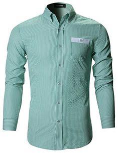 FLATSEVEN Mens Slim Fit Stripe Pattern Button Down Dress Shirts #menswear #fashion #shirts #casual https://www.amazon.co.uk/dp/B01L24XLS0/ref=cm_sw_r_pi_dp_x_7kGbybV4Z8WZ6