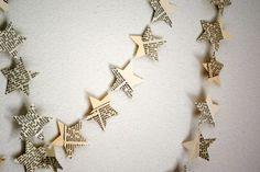Stars Garlands - vintage paper.