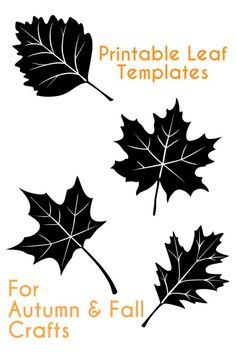 Printable Autumn leaves templates for Autumn and fall crafts