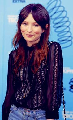 ombre hair... i want this, badly. I love Emily browning and I love this hair!