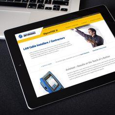 IDEAL SignalTek II Micorsite Internal Page on Tablet  ||  Streng Design & Advertising #ResponsiveDesign #WebDesign #WebDevelopment #UIdesign #InterfaceDesign #umbraco