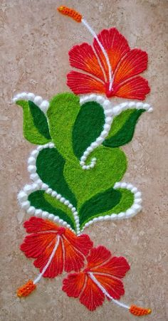 Easy and Latest Rangoli Designs for Diwali 2019 Easy Rangoli Designs Diwali, Rangoli Simple, Indian Rangoli Designs, Rangoli Designs Latest, Rangoli Designs Flower, Free Hand Rangoli Design, Small Rangoli Design, Rangoli Patterns, Rangoli Ideas
