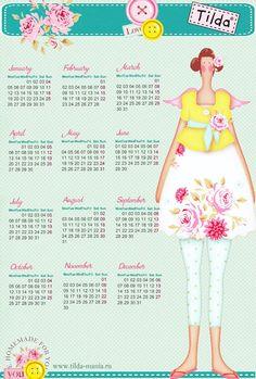 Tilda 2015 calendar