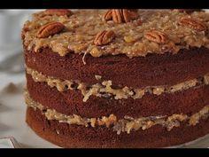 German Chocolate Cake Recipe Demonstration - Joyofbaking.com - YouTube