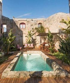 Exterior Design, Interior And Exterior, Interior Garden, Dream Home Design, House Design, Natural Swimming Pools, Natural Pools, Style Deco, Dream Pools