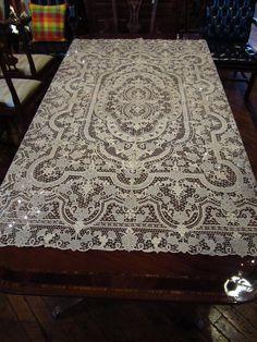 Antique Point De Venise Handmade Needle Lace Tablecloth ~ Circa Late 1800s  | Linens, Lace U0026 Lingerie... | Pinterest | Needle Lace, Linens And Antique  Lace