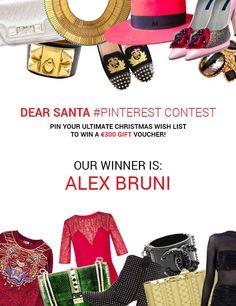 Say congrats to our winner! http://www.pinterest.com/alexsbruni/dear-santa-x-videdressing/. Alex Bruni, please send us an email to social@videdressing.com We will send you your voucher code.