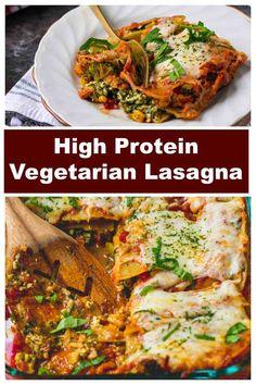 Vegetarian Lasagna Recipe, Vegetarian Platter, Lasagne Recipes, Veggie Lasagna, Vegetarian Recipes Dinner, Veg Recipes, Dinner Recipes, Healthy Recipes