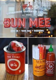 Bun Mee on Fillmore Street, San Francisco, California. At the top of my list to eat a bánh mi sandwich. Explore your city with Pho Restaurant, Vietnamese Restaurant, Restaurant Concept, Restaurant Branding, Restaurant Design, Vietnamese Sandwich, Banh Mi Sandwich, Menu Design, Cafe Design