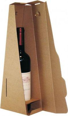 Unique slanted carry cardboard wine box