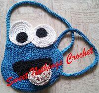 """Sweet Nothings Crochet: """"THE"""" BLUE MONSTER SLING BAG"""