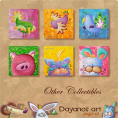 Funny bunnyRabbit PaintingGirls Pink Room by DayanosArt on Etsy