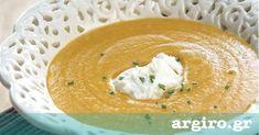 Σούπα βελουτέ κολοκύθα από την Αργυρώ Μπαρμπαρίγου   Ιδανική για τις κρύες μέρες. Αυτή η κολοκυθόσουπα μπορεί να πρωταγωνιστήσει και σε γιορτινό τραπέζι