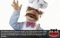 Swedish People Don't Like the Swedish Chef - http://www.factfiend.com/swedish-people-dont-like-swedish-chef/