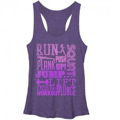 Women's - Run Squat Jump Workout CHIN UP Racerback Tank