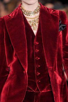 Ralph Lauren red velvet tux Fall 2012