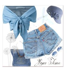 A fashion look from April 2016 featuring blue top, vintage high waisted shorts and blue handbags. Paul Smith, Blues, Denim Shorts, Lemon, Chanel, Polyvore, Fashion, Moda, Fasion