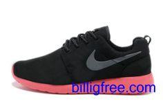 Verkaufen billig Schuhe Damen Nike Roshe Run (Farbe: vamp, innen - schwarz, logo - Silber; Sohle - rot) Online in Deutschland.
