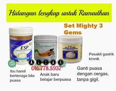 Hidup dengan Memberi: Set Mighty 3 Gems Shaklee untuk kekal cergas dan bertenaga bukan hanya di Bulan Ramadhan malah aktif sepanjang tahun!