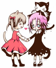 Soul Eater, Maka and  corna as kitty cats