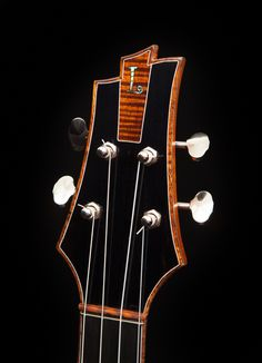 Always in pursuit of the perfect tone, luthier Jay Lichty's latest creation is this all Koa modified baritone ukulele. Ukulele Instrument, Bass Ukulele, Violin, Ukulele For Sale, Ukulele Design, Guitar Inlay, Mandoline, Guitar Stand, Guitar Building