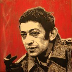 #Serge #Stencils #VincZ #Gainsbourg 80x80 cm on panel