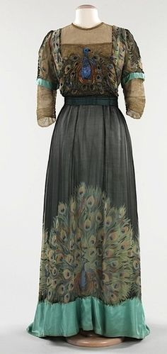 House of Weeks peacock dress. Silk and metal, 1910. Brooklyn Museum Costume Collection at The Metropolitan Museum of Art.