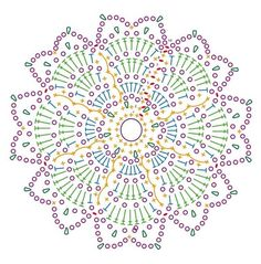 On this page you will find 6 beautiful crochet patterns. You can save and print them. Have a look and choose the fallen crochet patterns. Motif Mandala Crochet, Crochet Motifs, Crochet Blocks, Crochet Diagram, Crochet Stitches Patterns, Doily Patterns, Crochet Chart, Crochet Squares, Crochet Doilies