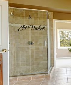 Bathroom Wall Decal  Get Naked  Bathroom by FourPeasinaPodVinyl, $8.00