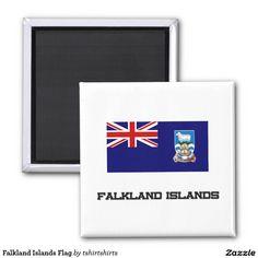 Falkland Islands Flag 2 Inch Square Magnet