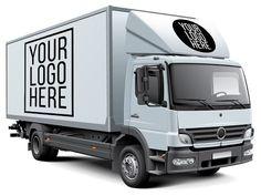 FREE PSD MockUp Billboard Mockup, Truck Design, White Box, Branding Design, Identity Branding, Corporate Identity, Corporate Design, Brochure Design, Visual Identity