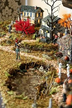 cool halloween village ideas... could also do one for Christmas