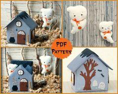 Casa del fantasma. Patrón PDF