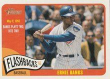 2014 Topps Heritage Baseball Flashbacks BF-EB Ernie Banks Chicago Cubs