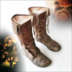 Gladiator (2000) costumes wardrobe Maximus Distressed Leather Boots