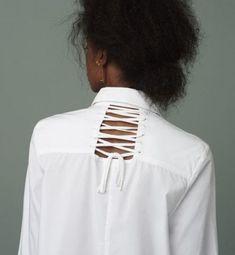 45 Trendy Sewing Ideas For Girls Shirts Sewing Clothes, Diy Clothes, Fashion Details, Fashion Tips, Fashion Design, Estilo Denim, Pants Pattern, White Shirts, Dress Backs