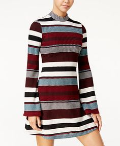 American Rag Striped Sweater Dress, Only at Macy's - Juniors Dresses - Macy's