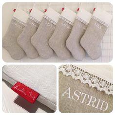 Flera julstrumpor ♡. #sy #sydd #sytt #sew #sewing #julstrumpor #namnstrumpa #namnstrumpor #beställni - kristinlog