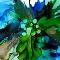 Blue Magnificence Painting by Louise Adams