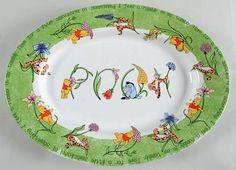 """Disney Poohtanicals 14"""" Oval Serving Platter"""