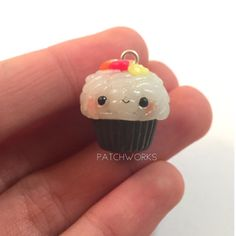 #kawaii #charms #polymer #clay #sushi #cupcake #charm
