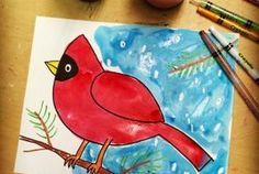 Winter Watercolor Cardinal