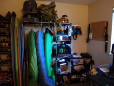 This is actually the rack I have right now in my spare bedroom...may have to get all the stuff off of it!