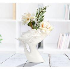 Vaza decorativa din portelan alb Women Thinking H25,4cm Decor, Home Decor, Vase, Dinning